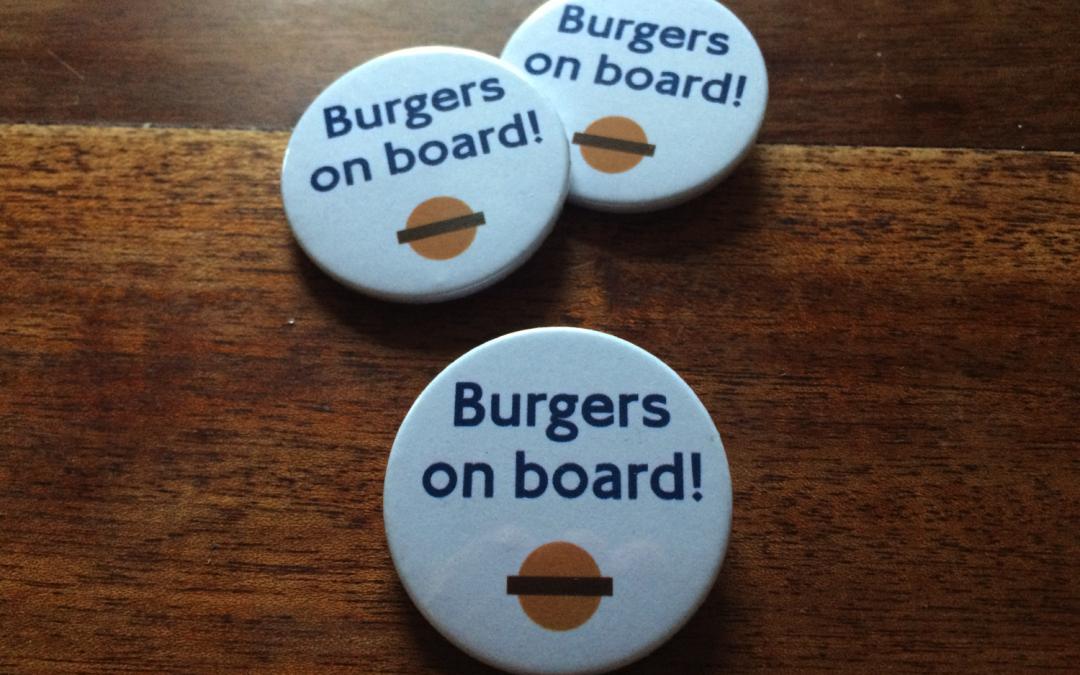 Burgers on board!